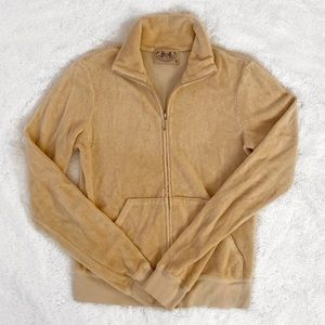 Juicy Couture Tan Terry Cloth Track Jacket